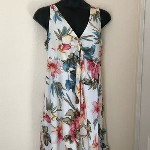 Venus White Floral Dress Size 14